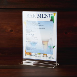 Picture of Acrylic Sign Holder and Menu Holder, 5 x 7 inches, 10-Pack