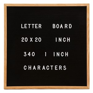 "Picture of Changeable Letter Board - 20"" x 20"""